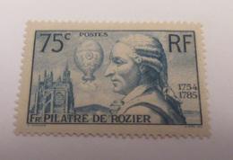 France - Timbre Centenaire De La Mort De Pilâtre De Rozier YT N°313 Neuf** - 1936 - France