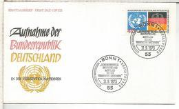 ALEMANIA FDC 1973 REPUBLICA FEDERAL BANDERA FLAG - Sobres