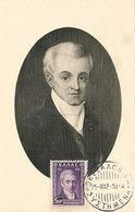 D37903 CARTE MAXIMUM CARD 1930 GREECE - GREEK HISTORY IOANNIS KAPODISTRIAS CP ORIGINAL - Cartes-maximum (CM)