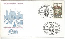ALEMANIA FDC 1975 EUROPA CEPT 1975 ARTE PINTURA MOLINO WINDMILL - Molinos