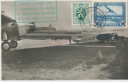 D37905 CARTE MAXIMUM CARD RR 1931 BELGIUM - ANTWERPEN LUCHTVAARTSTATIE 29 VIII 1931 SENT TO BERLIN CP ORIGINAL - Maximum Cards