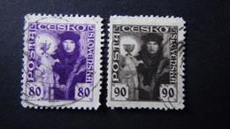 Czechoslovakia - 1920 - Mi:CS 181-2, Sn:CS 74-5, Yt:CS 170-1 Used - Look Scan - Tschechoslowakei/CSSR