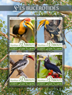 Djibouti   2019 Fauna  Hornbills ,birds   S201907 - Djibouti (1977-...)