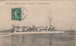 "Bateaux :  Guerre , Marine   ""  Bombarde""  Torpilleur D '   Escadre - Oorlog"