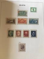 SVIZZERA SWITZERLAND SUISSE SCHWEIZ 1945 1946 1947 1948 1949 1950 ** MNH - Nuovi