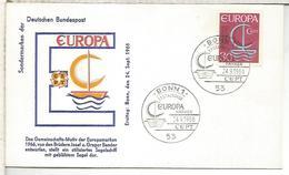 ALEMANIA FDC 1966 EUROPA CEPT - Europa-CEPT