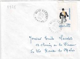 TP N° 2868 Seul Sur Enveloppe De Le Dézert - Marcophilie (Lettres)