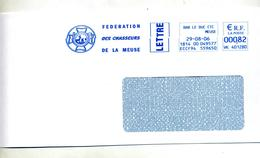 Lettre Flamme Ema  Bar Le Duc Federation Chasseurs Meuse - Marcophilie (Lettres)