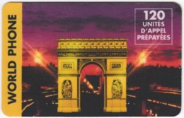 FRANCE C-388 Prepaid TellPlus - Landmark, Arc De Triomphe - Used - Frankreich