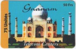 FRANCE C-491 Prepaid Gnanam - Landmark, Taj Mahal - Used - Frankreich