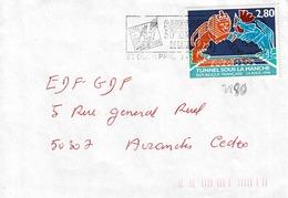 TP N° 2880  Seul Sur Enveloppe De St Ouen - Marcophilie (Lettres)