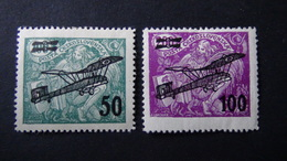 Czechoslovakia - 1922 - Mi:CS 199-200, Sn:CS C7-8, Yt:CS PA7-8*MH - Look Scan - Ungebraucht