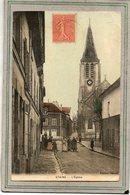 CPA -STAINS (93) - Aspect Du Quartier De L'Eglise En 1910 - Carte Colorisée - Stains