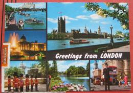 "8605 Kapfenberg / 4001 Basel 1? - Nachporto / Nachgebühr-Beleg Auf Ansichtskarte ""Greetings From London"" 1990 - Strafport"