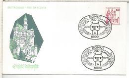 ALEMANIA FDC 1979 BONN CASTILLO CASTLE ARQUITECTURA - Castillos