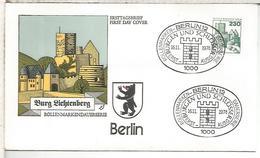 ALEMANIA FDC 1979 BERLIN CASTILLO CASTLE ARQUITECTURA - Castillos