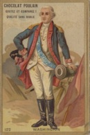 Histoire - Etats-Unis Amérique - Chromo Gaufré Poulain - Président Georges Washington - Marine Guerre - Geschiedenis