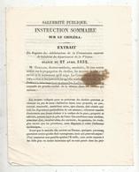 Salubrité Publique, Instruction Sommaire Sur Le CHOLERA , Commission De La VIENNE, 4 Scans , Frais Fr 1.95 € - Wetten & Decreten