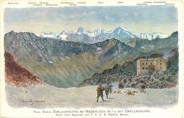 Reisch  Similaunhütte Am Niederjoch Mit Ortlergruppe - Italia