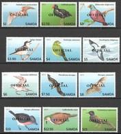 W093 2013 SAMOA FAUNA BIRDS OVERPRINT OFFICIAL 1SET !!! 41 EURO MICHEL MNH - Vögel