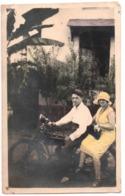 Congo Belge - Photo Coloriée  C.1927 Moto - Automobiles