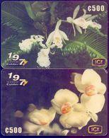 Used Phone Cards Costa Rica - Flora De Costa Rica 2V. - Costa Rica