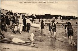 CPA JUAN-les-PINS - La Plage - Bains De Mer (513930) - Antibes