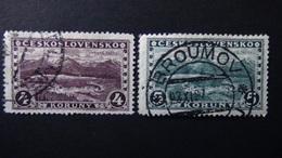 Czechoslovakia - 1927 - Mi:CS 255,266 Sn:CS 121,140 Yt:CS 227,241 Used - Look Scan - Tchécoslovaquie