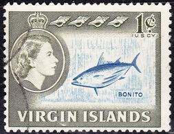 BRITISH VIRGIN ISLANDS 1964 QEII 1c Blue & Olive-GreenSG178FU - British Virgin Islands