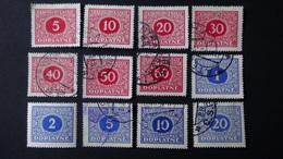 Czechoslovakia - 1928 - Mi:CS P55-66, Sn:CS J58-69, Yt:CS T55-66 Used - Look Scan - Postage Due