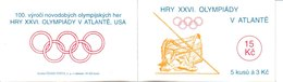 H 263) Tschechien 1996 Mi# 116 (5) Markenheftchen: Olympiade Atlanta, Speerwurf - Czech Republic