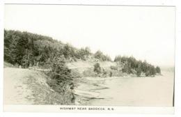 Ref 1325 - Real Photo Postcard - Highway Near Baddeck - Nova Scotia Canada - Nova Scotia