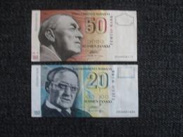 FINLAND 50MK 1986+ 20MK 1993. D-0030 - Finlandia