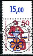 BRD - Mi 831 Oberrand - Zentrisch OO Gestempelt (E) - 50Pf                   25 Jahre Müttergenesungswerk - [7] República Federal