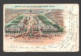 Paris - Exposition Universelle De Paris 1900 - Vue De L'esplanade Des Invalides - Dos Simple - Ausstellungen