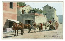 Ref 1316 - Early Ethnic Postcard - Rural Scene Genoa - Italy - Genova (Genoa)