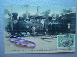 CONGO : Chemin De Fer Des Grands Lacs - Locomotives à KINDU  En 1911 - Autres