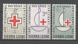 SIERRA LEONE CROIX ROUGE N° 240 à 242 NEUF** LUXE SANS CHARNIERE / MNH - Sierra Leone (1961-...)