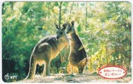 JAPAN A-988 Magnetic NTT [231-152] - Animal, Kangaroo - Used - Japan