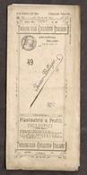Touring Club Ciclistico Italiano - Incino - Bellagio Planimetria E Profili 1899 - Otros