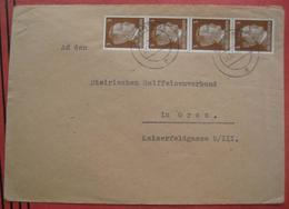 8350 Fehring - Brief Nach Graz Mehrfachfrankatur 1943 - Ganzsachen