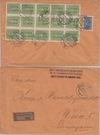 Österreich - 18x60+600 K. Freimarke Einschreibebrief Klosterneuburg Wien 1923 - Briefe U. Dokumente