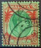 STRAITS SETTLEMENTS - Canceled - Sc# 252 - 5$ - Malayan Postal Union