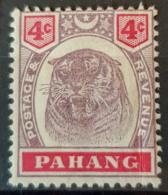 STRAITS SETTLEMENTS / PAHANG - MLH - Sc# 14A - 4c - Pahang