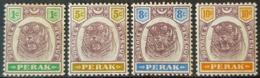STRAITS SETTLEMENTS / PERKA - MLH - Sc# 47, 51, 52, 53 - 1c 5c 8c 10c - Perak