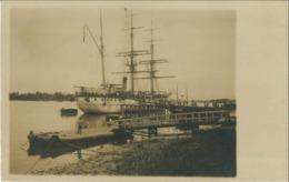 Carte Photo Bateau (lieu Non Identifié) - Sailing Vessels