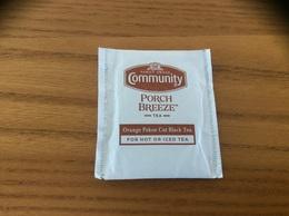 """Sachet De Thé """"FAMILY OWNED Community - PORCH BREEZE TEA"""" Etats-Unis USA - Autres Collections"""