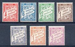 INDE - YT Taxe N° 12 à 18 - Neufs ** - MNH - Cote: 11,30 € - Lire Descriptif - India (1892-1954)