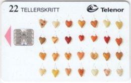 NORWAY A-093 Chip Telenor - Hearts - Used - Norwegen