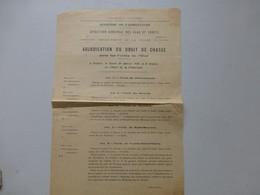 Vienne (86) 1929 Adjudication Droit De CHASSE Ds Les Forêts De L'Etat Ref 549 ; PAP06 - Documents Historiques